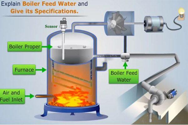 cảm biến đo mức nước nóng lò hơi