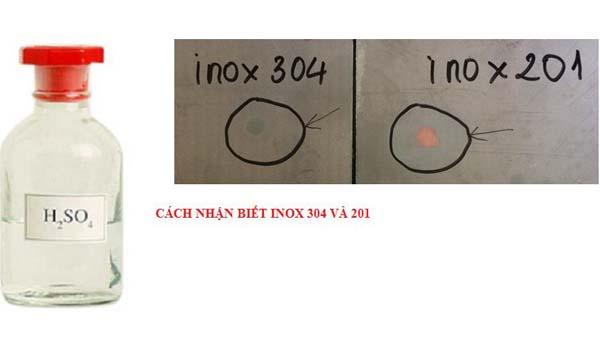 cách nhận biết inox 201 và 304