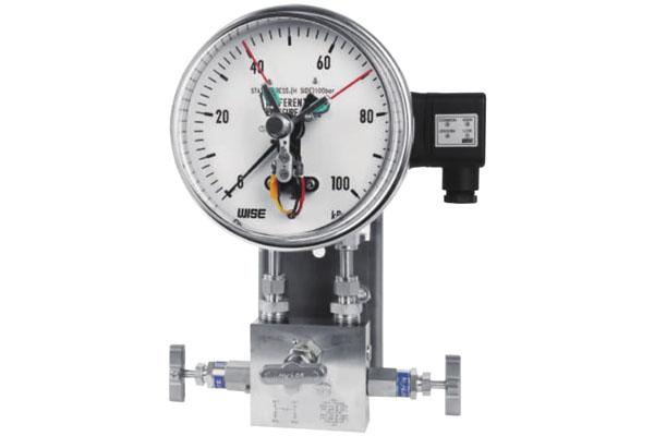 đồng hồ đo chênh áp loại 3 kim