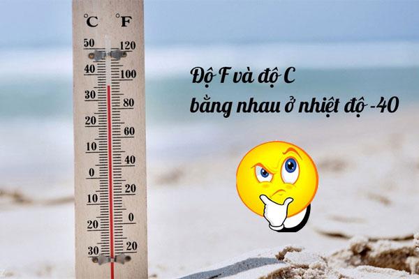 1 độ c bằng bao nhiêu độ f