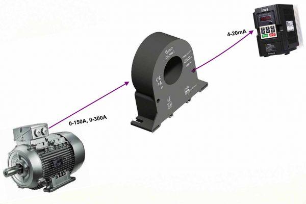 ct đo dòng điện 0-300a ra analog