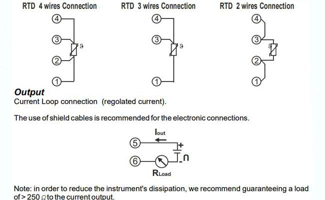 cách đấu dây bộ chuyển đổi cảm biến nhiệt độ pt100