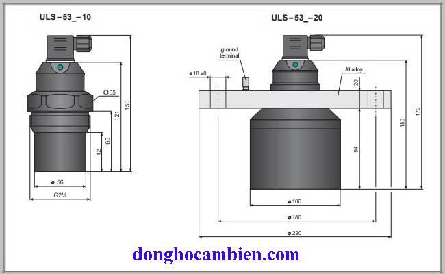 Cấu tạo cảm biến siêu âm 0-20m