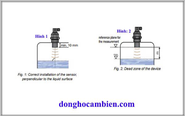 Lắp đặt cảm biến siêu âm 0-20m