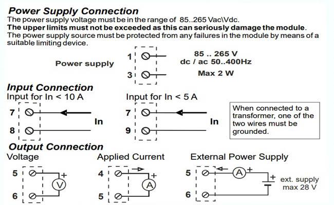 cài đặt bộ chuyển ct dòng 0-5A 0-10A