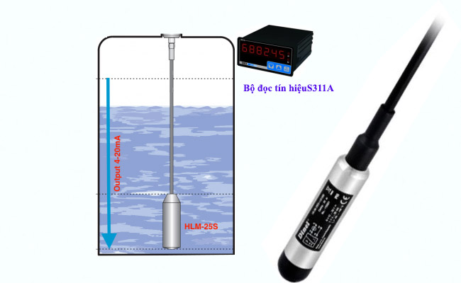 ứng dụng cảm biến đo mức nước 0-100m