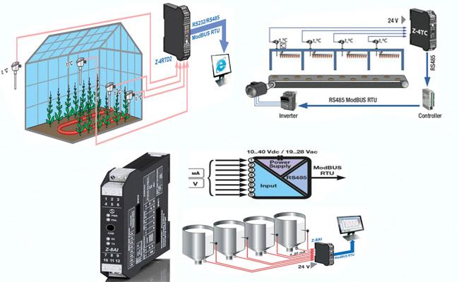 chuyển đổi tín hiệu analog 4-20ma sang tín hiệu modbus rtu rs485