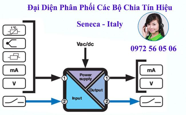 Bộ chia tín hiệu dòng 4-20ma xuất xứ seneca italy
