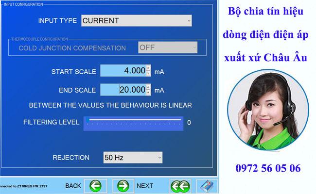 Bộ chia tín hiệu dòng điện điện áp 4-20ma 0-10v