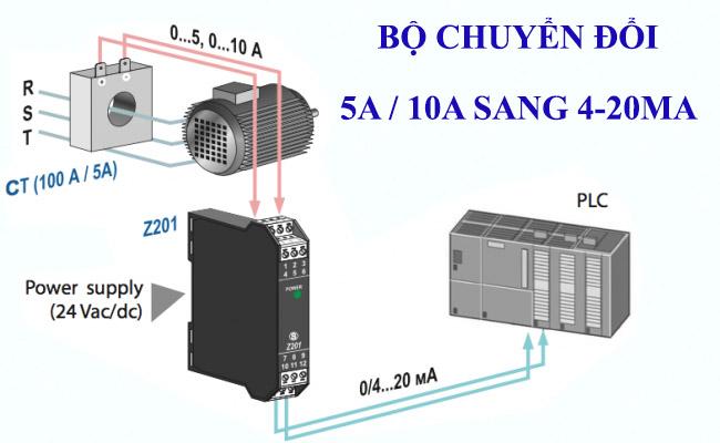 Bộ chuyển đổi ct dòng 4-20ma 0-10v
