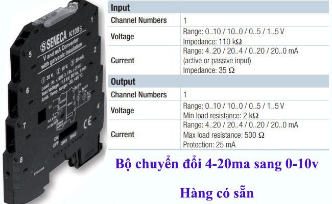 Bộ chuyển đổi dòng 4-20ma sang áp 0-10v