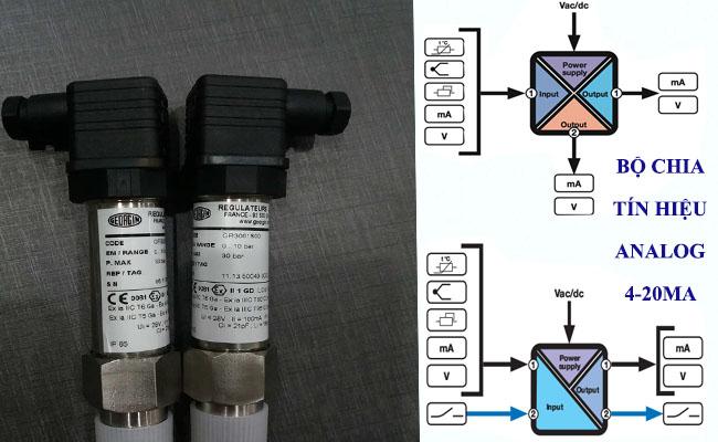 Bộ chia tín hiệu cảm biến áp suất 4-20ma chống cháy nổ