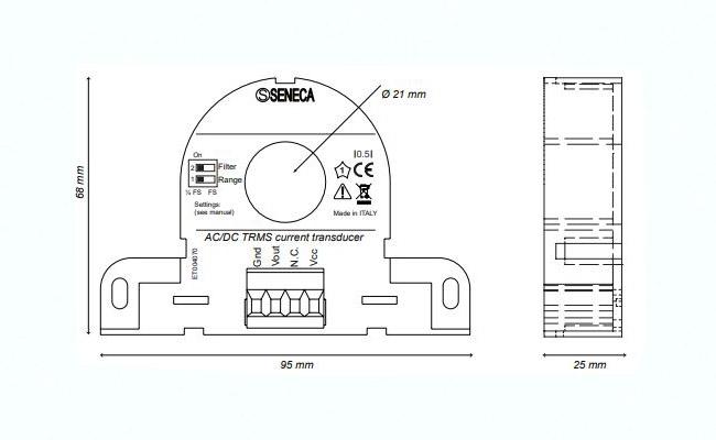 Biến dòng 300A sang 4-20ma T201DCH300-LP