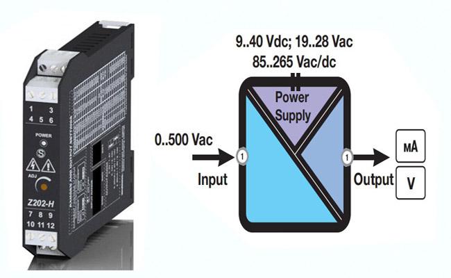Bộ chuyển nguồn AC sang 4-20ma 0-10v