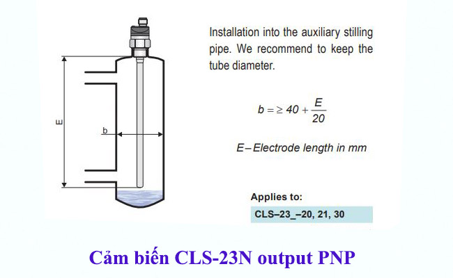 Cách lắp đặt cảm biến đo mức nước dạng điện cực cls-23n