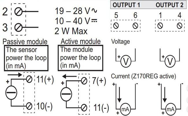 Đấu dây bộ chia tín hiệu Z170REG