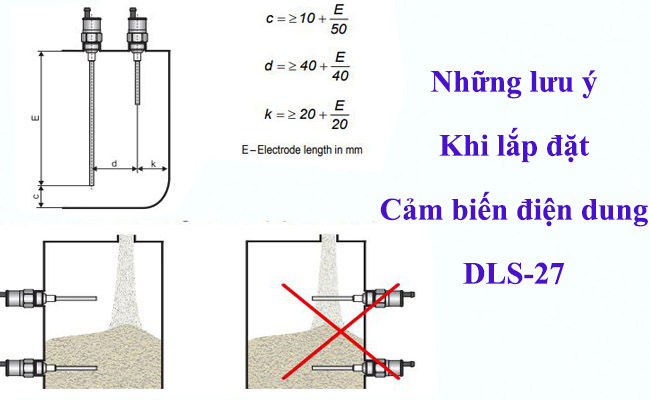Lắp đặt cảm biến mực nước bằng điện dung