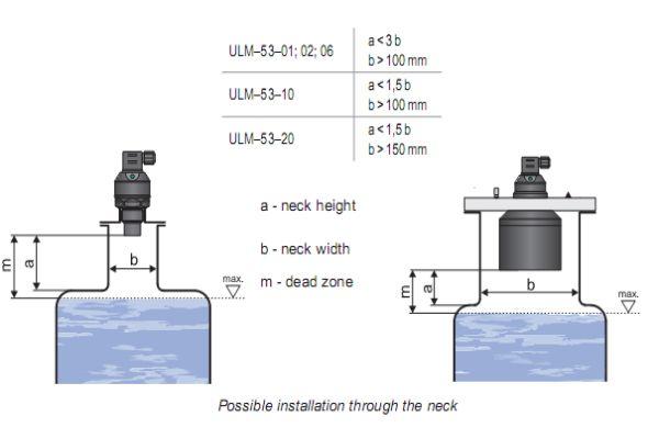 Cách lắp đặt cảm biến siêu âm đo mực nước ULM53-06