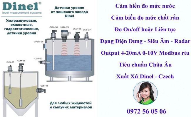 Cảm biến đo mức xăng dầu xuất xứ hãng Dinel