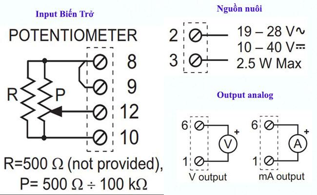 Bộ chuyển đổi tín hiệu biến trở sang 4-20ma z109reg2-1