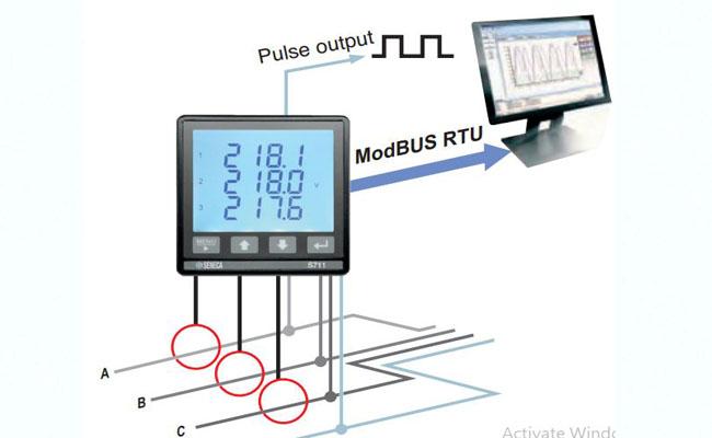 đồng hồ đo điện năng S711B6MOD