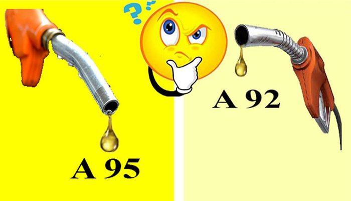 xăng a92 và a95 khác nhau thế nào