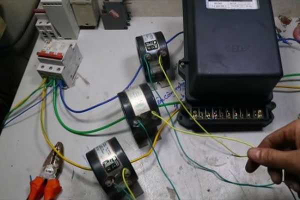 sơ đồ đấu nối công tơ điện 3 pha 4 dây hữu công