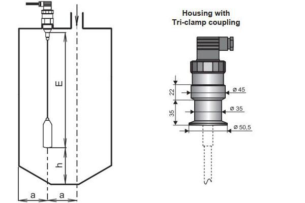 cảm biến đo mức nước cất không dẫn điện