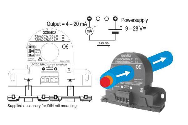 Sơ đồ đấu dây biến dòng với biến tần hoặc plc