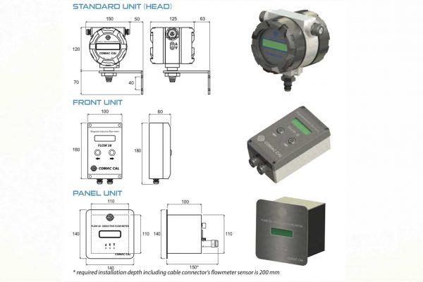 Đồng hồ đo lưu lượng nước thải có màn hình hiển thị