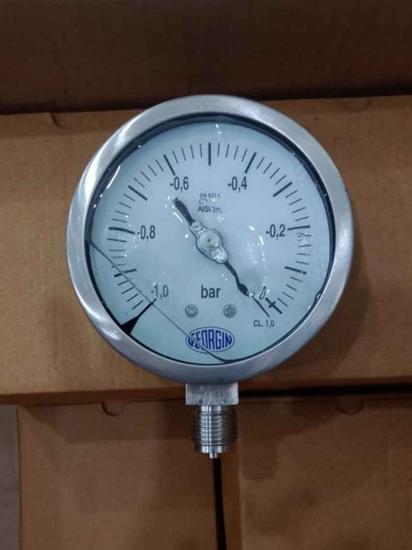 Đồng hồ chân không âm dương M5000CD5N1G00 dải đo -1...0 bar mặt 63mm chân ren G1/4 (13mm)