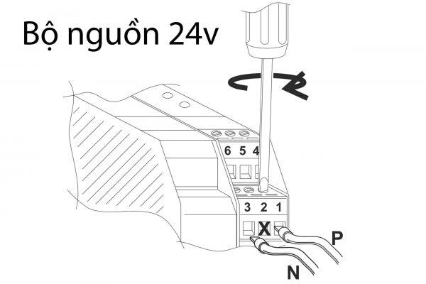 Bộ nguồn 24v seneca xuất xứ Italy đổi nguồn AC 220 sang nguồn DC 24v
