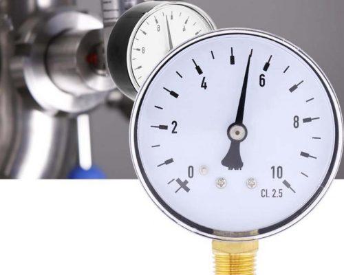 Đồng hồ đo áp suất 0-10bar vạch chia 0.1 bar xuất xứ EU
