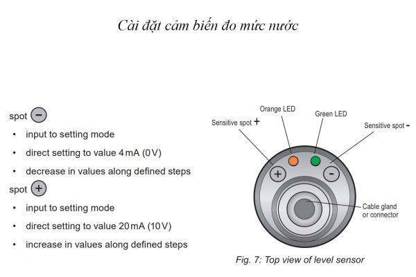 Hướng dẫn cài đặt cảm biến đo mức dlm-35nt dùng cho nước nóng